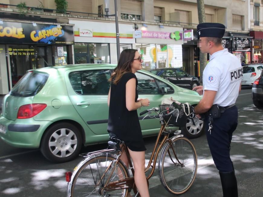La police sévit face aux cyclistes lyonnais