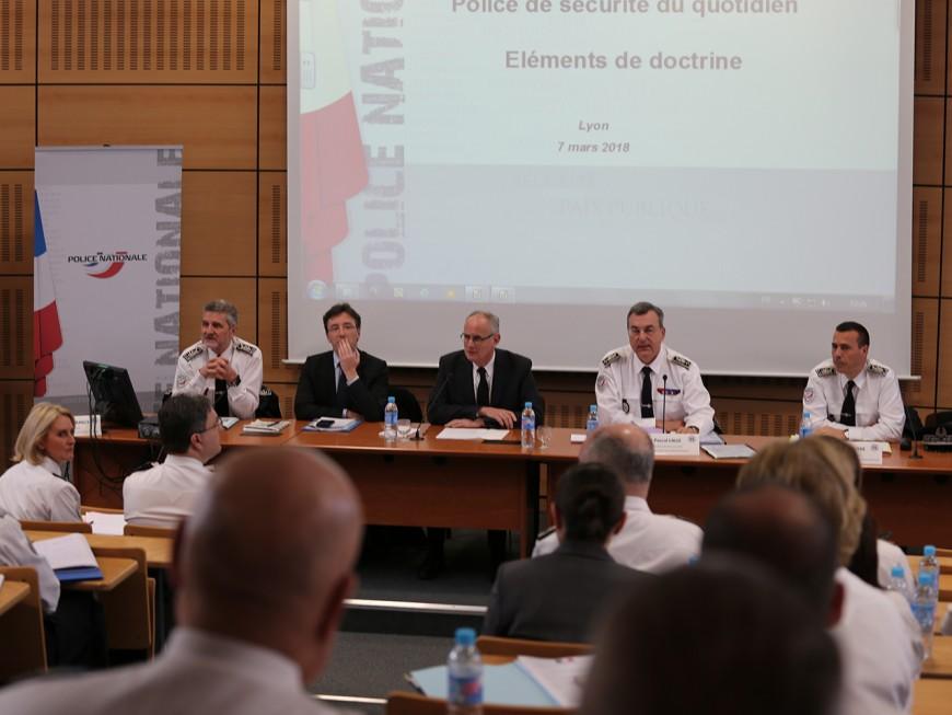 Monsieur Police de Sécurité du Quotidien en visite à Lyon