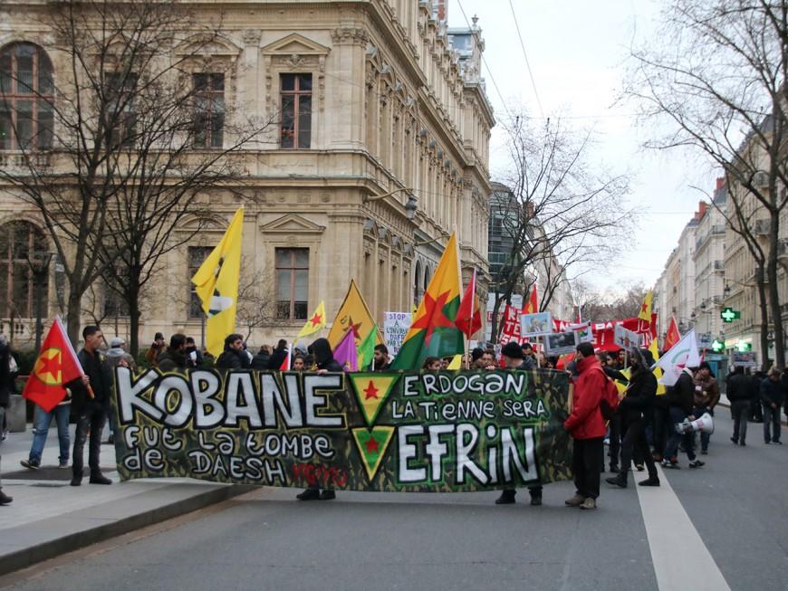 Lyon : la manifestation des Kurdes plus calme que la semaine passée