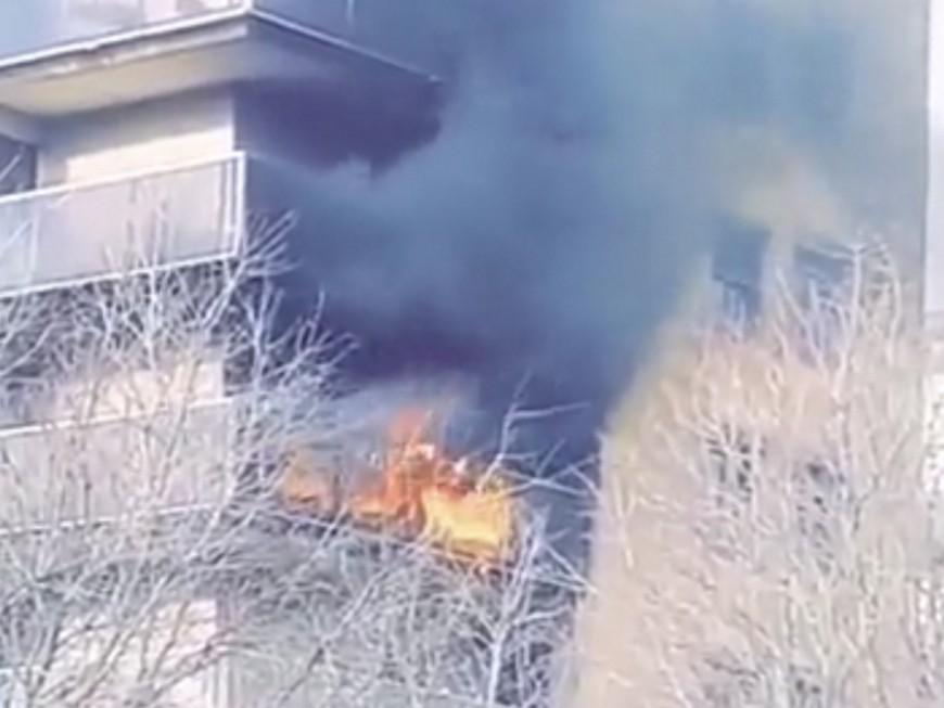 Lyon : un incendie sur un balcon ce dimanche