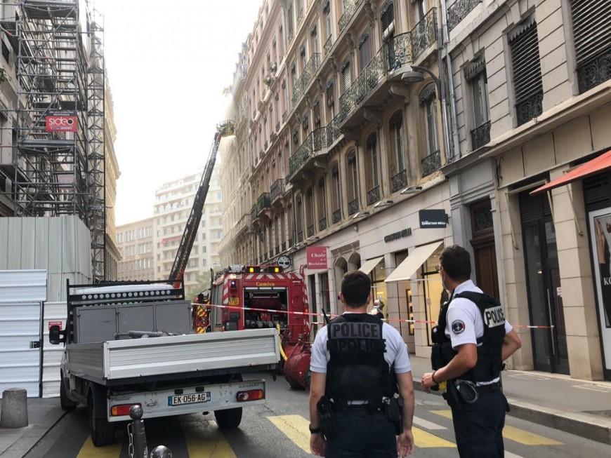 Lyon : un incendie dans un immeuble de la Presqu'île