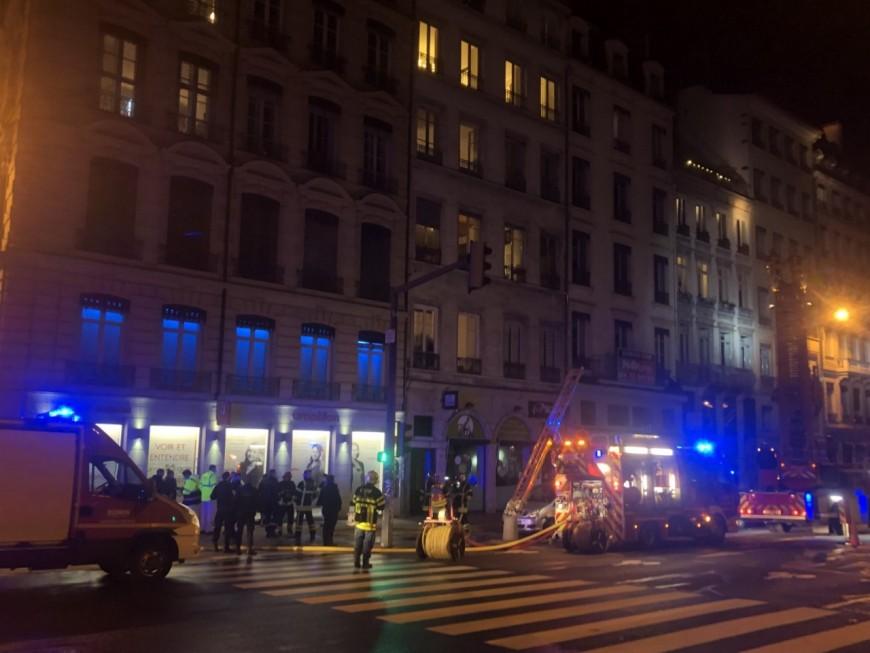 Un début d'incendie dans un immeuble du centre-ville de Lyon