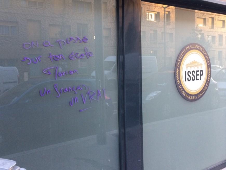 """""""On a pissé sur ton école"""" : l'ISSEP de Marion Maréchal tagué à Lyon"""