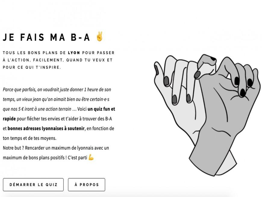 """""""Je fais ma B-A"""", le quiz qui permet de trouver facilement une association à Lyon"""