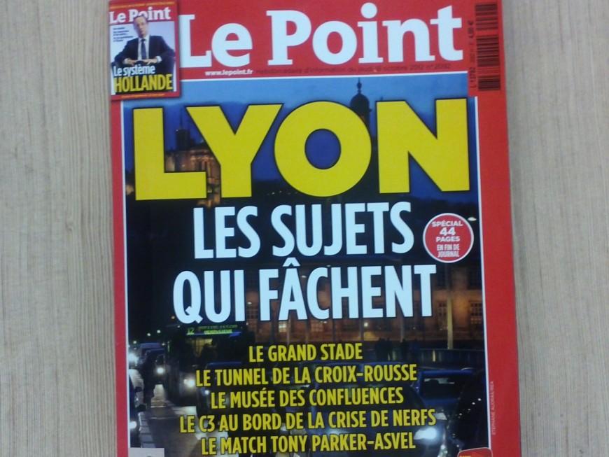 """Le Point s'empare des """"dossiers qui fâchent"""" à Lyon"""