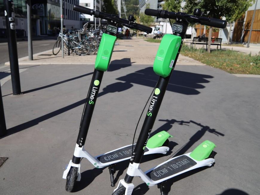 Lime déploie ses trottinettes électriques en libre-service à Lyon