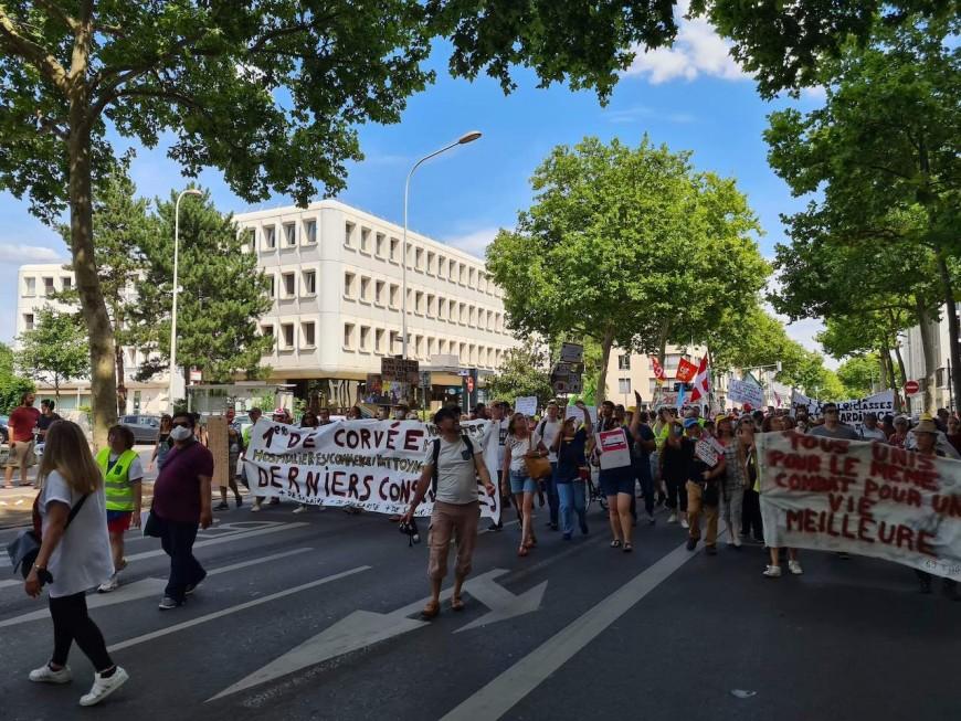 Les soignants mobilisés à Lyon pour leur manifestation du 14 juillet