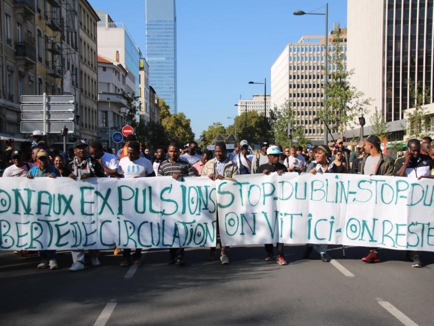 200 personnes manifestent à Lyon contre la procédure de Dublin