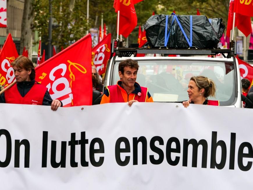 Petite mobilisation à Lyon contre la réforme des retraites