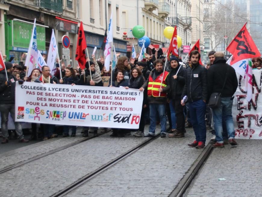 Un millier de manifestants contre Parcoursup à Lyon