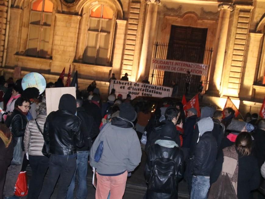 Une manifestation solidaire aux réfugiés mardi soir à Lyon