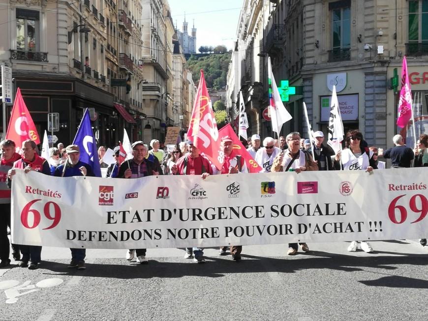 550 retraités manifestent à Lyon pour leur pouvoir d'achat