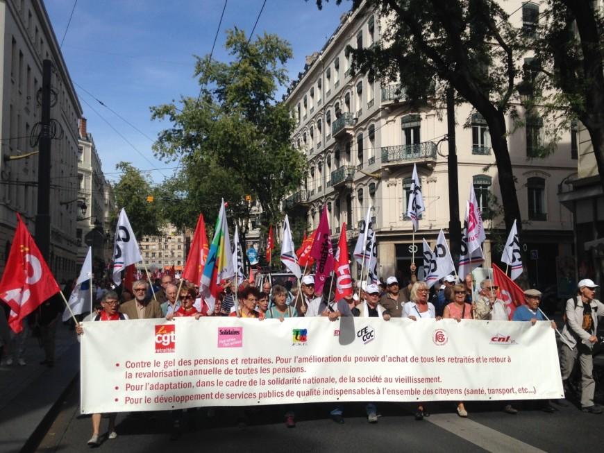 Forte mobilisation des retraités à Lyon