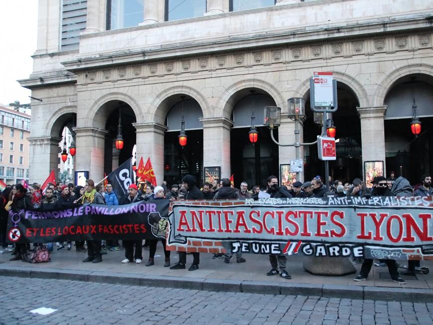 Manifestation contre l'ouverture d'un local du mouvement d'extrême droite «Bastion Social»