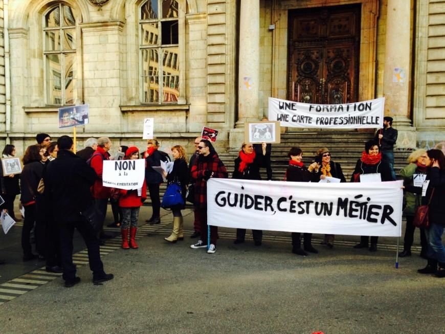 Manifestation des guides-conférenciers à Lyon
