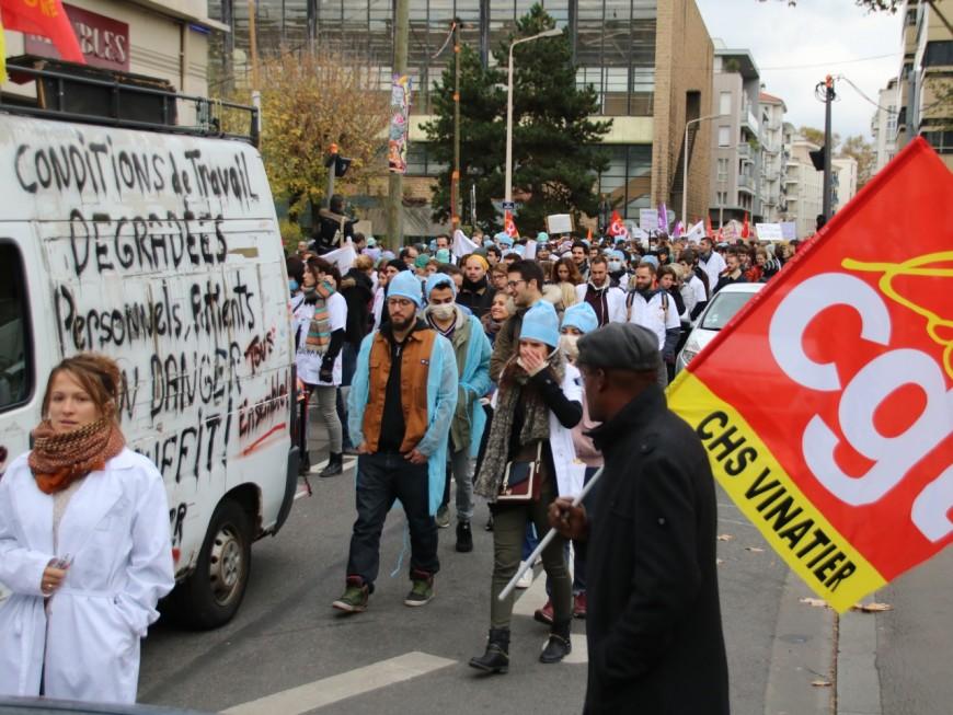 1300 personnes mobilisées à Lyon pour la défense de l'hôpital public