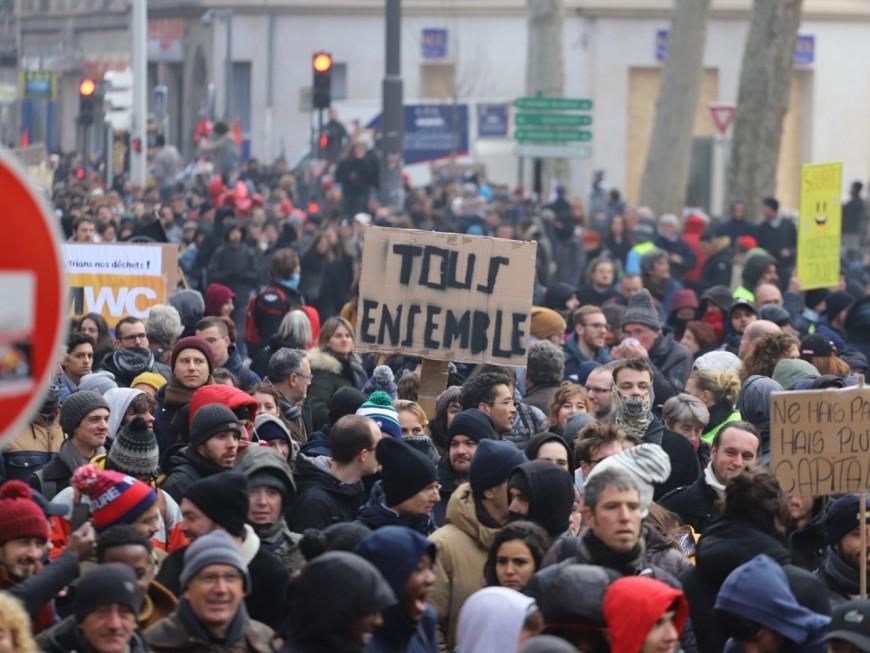 Lyon : entre 1400 et 5000 personnes de nouveau mobilisées contre la réforme des retraites