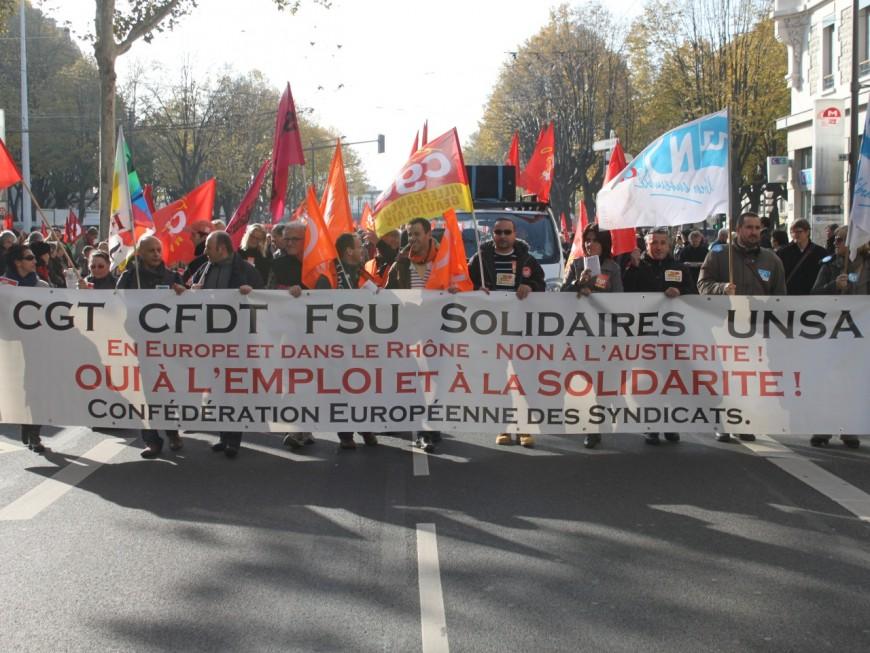 Manifestation contre l'austérité : près de 2000 personnes dans les rues de Lyon