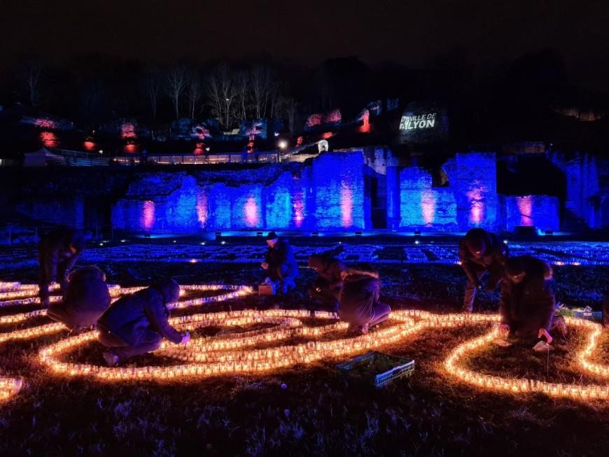 Fête des Lumières : 20 000 lumignons solidaires au théâtre antique de Fourvière