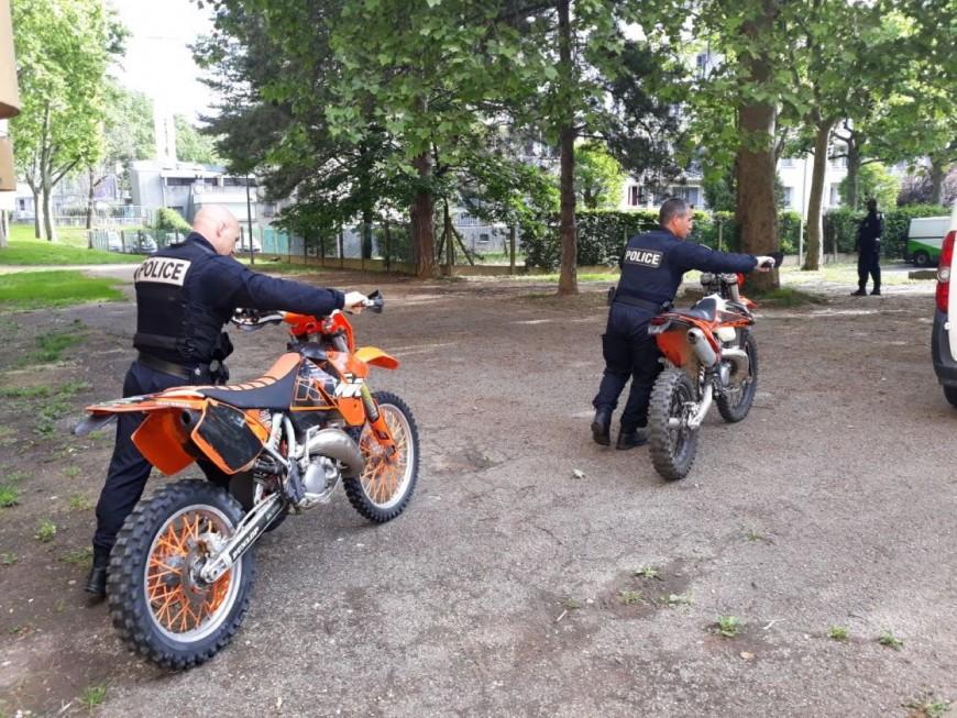 Rodéos à la Duchère: un homme interpellé, deux motos saisies