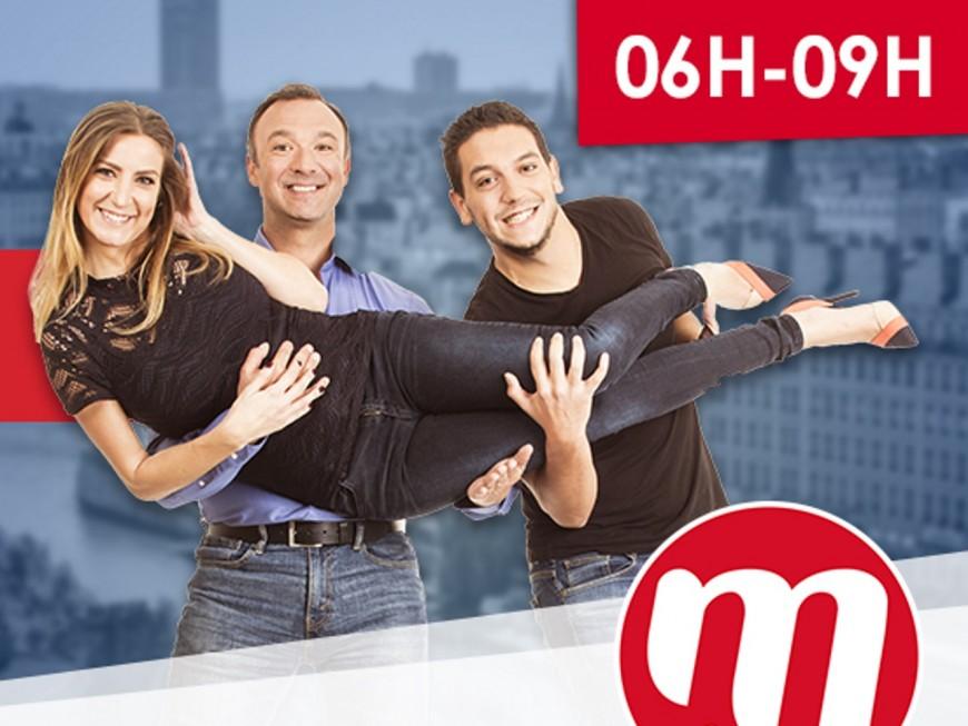 Tina Arena et Patrick Fiori invités de la matinale de M Radio délocalisée à Lyon