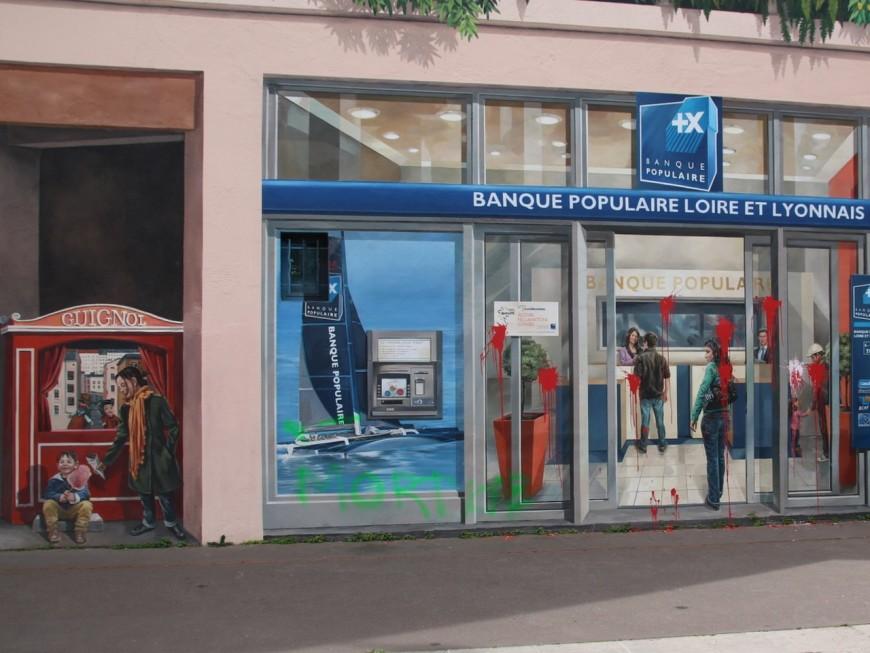 Lyon : le mur des Canuts vandalisé