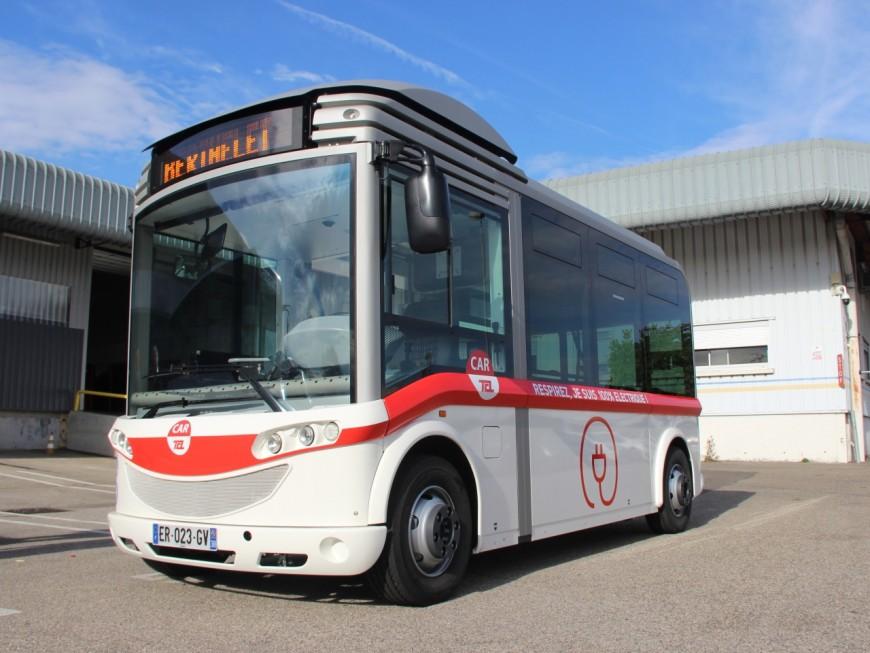 TCL a déployé le premier bus électrique de son réseau dans l'est de Lyon