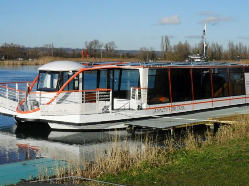 Mise en service ce samedi de la navette du Canal de Jonage
