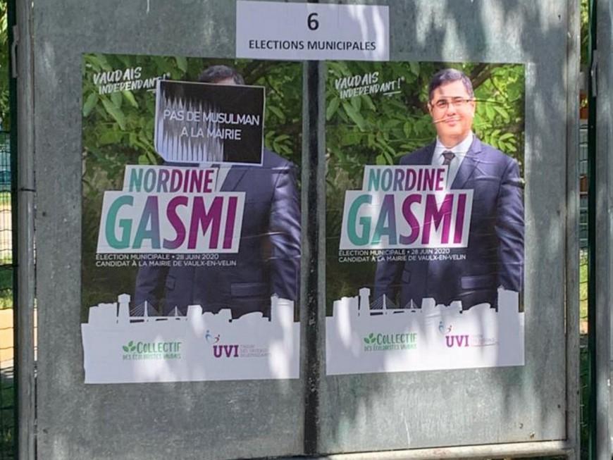 """""""Pas de musulman à la mairie"""": une affiche de campagne dégradée à Vaulx-en-Velin"""