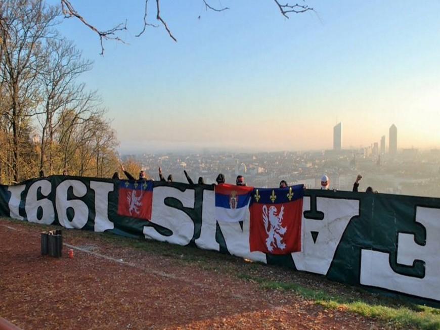 Avant le derby, la bâche volée aux supporters de l'ASSE refait surface