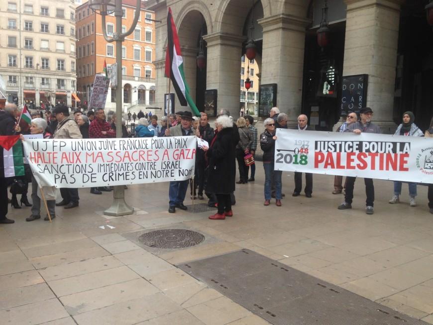 Une centaine de personnes réunies à Lyon pour une manifestation pro-Palestinienne