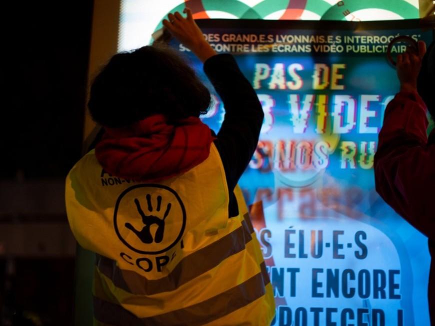 Une nouvelle action anti pub ce lundi dans les rues de la Métropole de Lyon