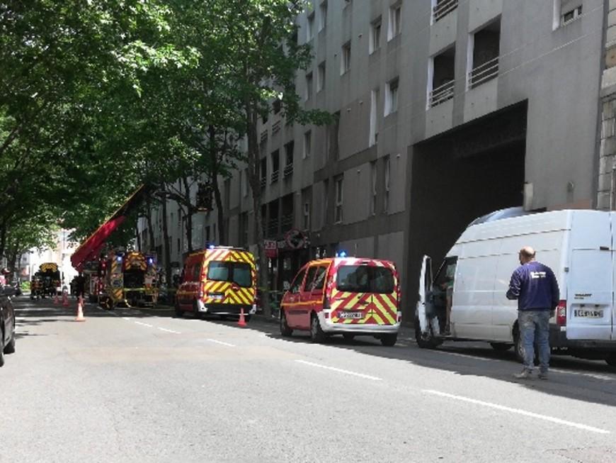 Villeurbanne : un feu de sous-sol rue Gabriel-Péri