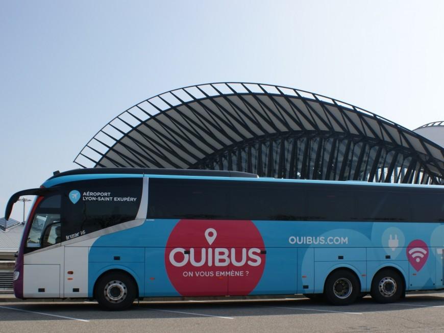 OUIBUS va relier l'aéroport Lyon-Saint-Exupéry à 18 villes de la région