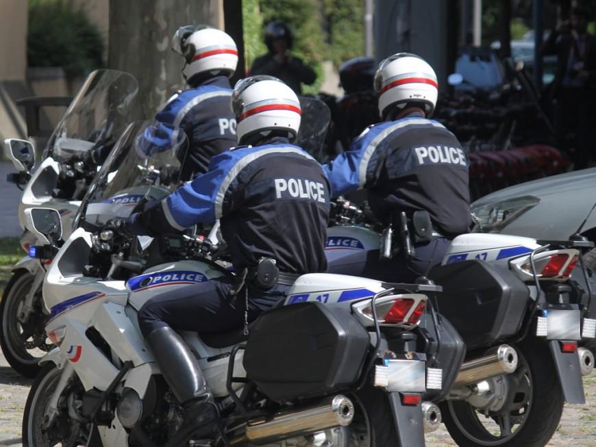 Lyon : un motard contrôlé à 106 km/h lors d'une opération de police