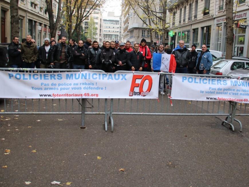Les policiers municipaux mobilisés ce mercredi à Lyon