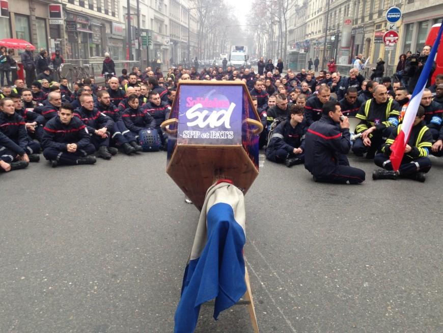 Les pompiers du Rhône de nouveau en grève ce lundi