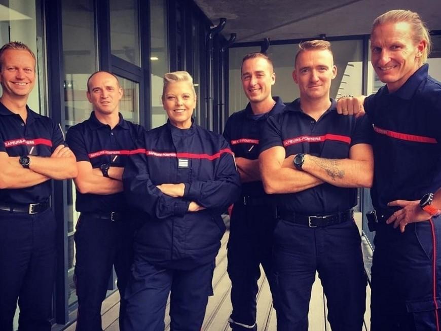 Les pompiers de Confluence accueillent le tournage d'une série télévisée avec Laurence Boccolini
