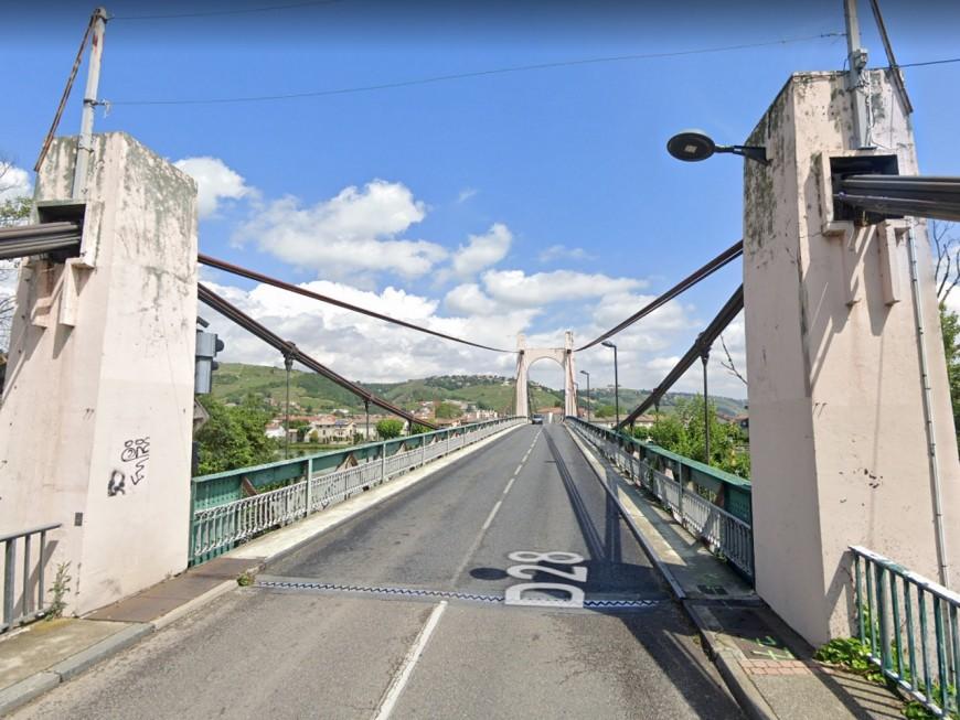 Au sud de Lyon : les poids lourds de plus de 19 tonnes bientôt interdits sur le pont de Condrieu