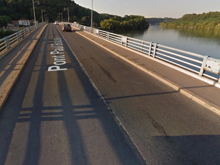 Des travaux sur le pont Paul Bocuse à Collonges-au-Mont-d'Or