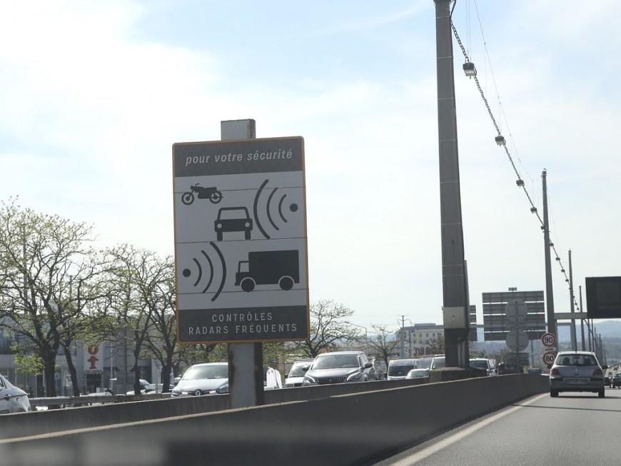 Un radar autonome sur l'A6 au nord de Lyon