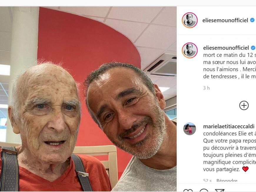 Elie Semoun annonce le décès de son pèrequi résidait dansun Ehpad à Lyon