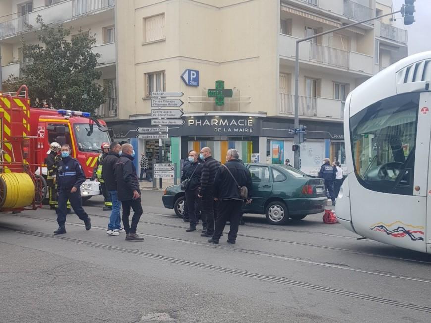 Près de Lyon : un accident voiture/tramway à Bron