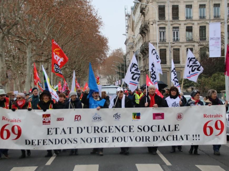 Lyon : 700 retraités manifestent pour plus de pouvoir d'achat