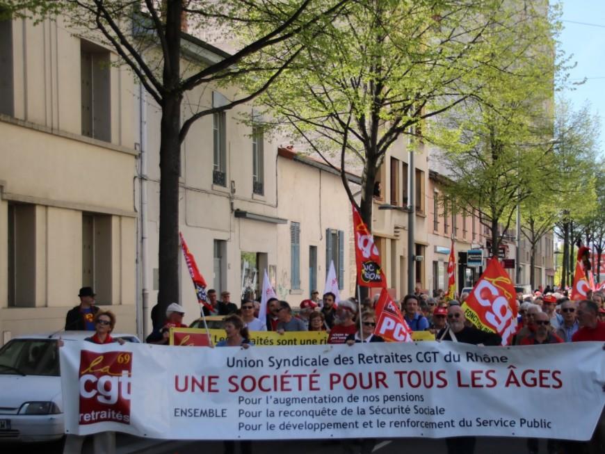 Lyon: près de 550 retraités manifestent pour leur pouvoir d'achat