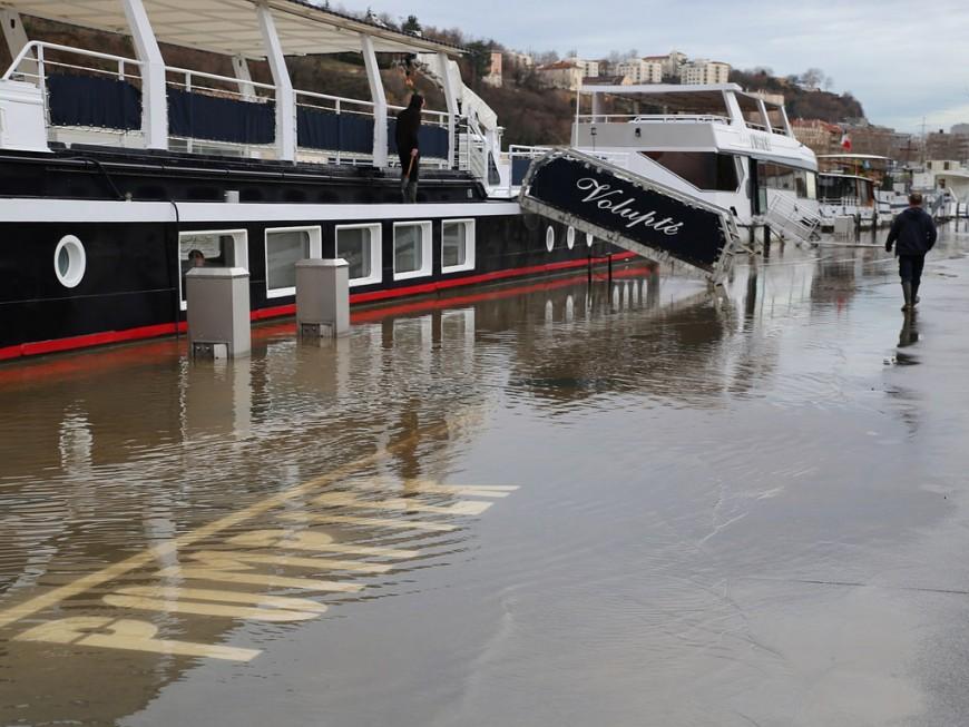 Le Rhône en vigilance orange inondations