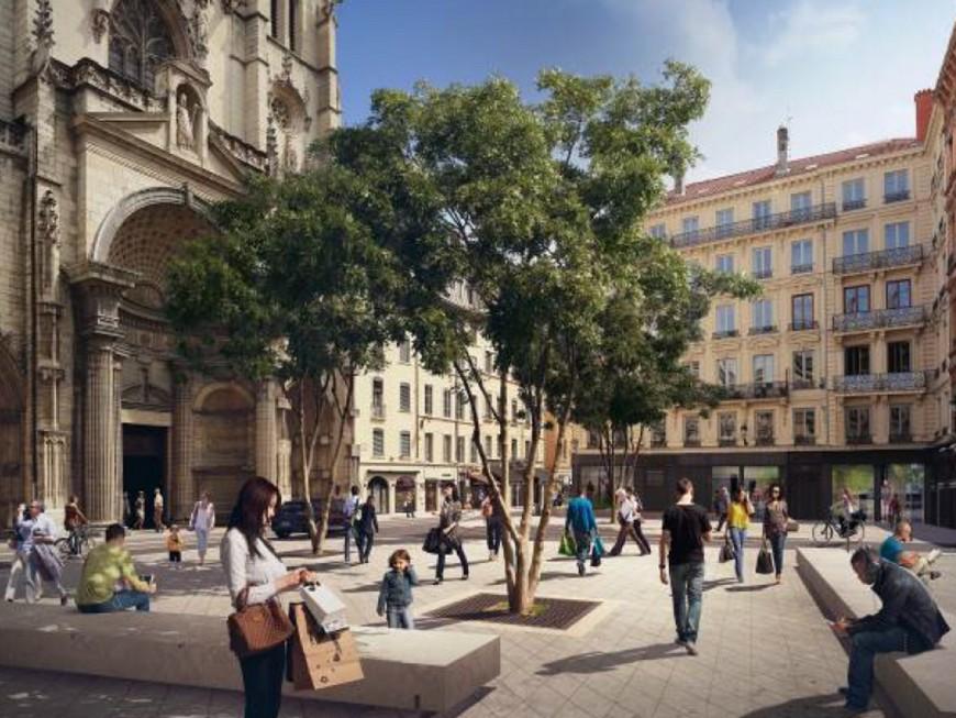 Début des travaux sur la place Saint-Nizier à Lyon