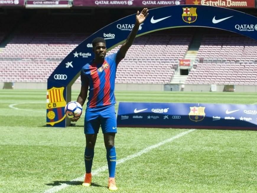 Samuel Umtiti officiellement présenté à Barcelone