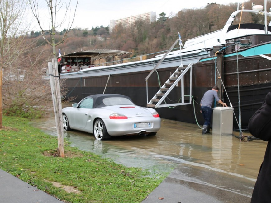 La Saône en crue : le pic attendu ce mardi