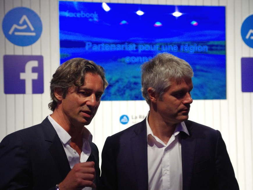 """Auvergne-Rhône-Alpes et Facebook partenaires pour """"booster la région"""""""